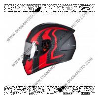 Каска MT Stinger Warhead черно-червен мат XL к. 11572