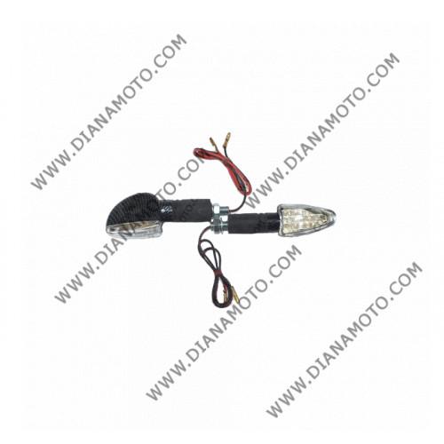 Мигачи к-т универсални LED карбон дълги цял к. 7367