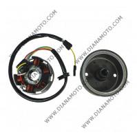 Статор и магнет Aprilia RS 50 AM6 Beta RR 50 MBK X-Power 50 Peugeot XP6 50 Yamaha DT 50 AM6 60W бобини 1+5 ф 82 мм 4 кабела к. 12314