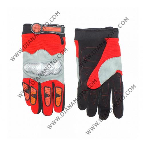 Ръкавици S-511 червени синтетика размер S  к. 4242