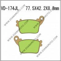 Накладки VD 174 EBC FA436 CARBONE 1174 СИНТЕРОВАНИ к. 7509