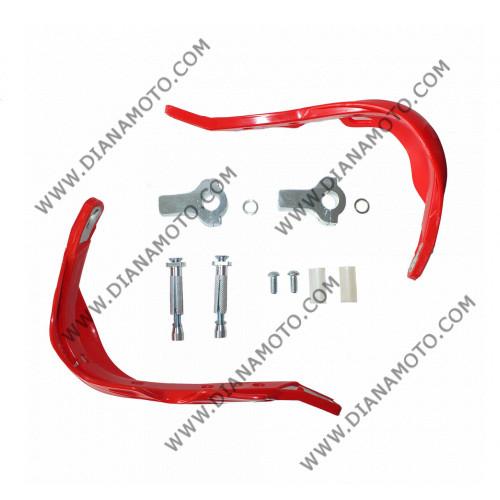 Предпазители за кормило с алуминиева рамка ф 22 мм червен к. 7417