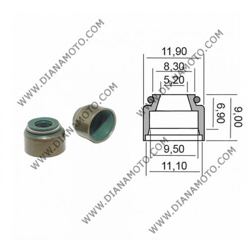 Гумички за клапан Aprilia Leonardo 250 Yamaha Majesty 250 X-max 250 5.2x9.5-11.9x6.9x9 равни на код RMS 100669220 к. 4259