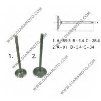 Клапани к-т Bashan 250 изпускателен 28.4x.5.4x89.3 + всмукателен 34x5.4x91 к. 3-1020