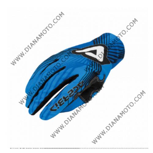 Ръкавици синтетика MX3 Acerbis сини M к. 4235