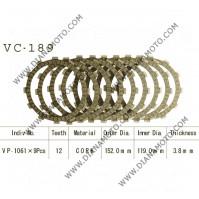 Съединител NHC 152x119x3.8 -9бр 12 зъба CD1176 R Friction paper к. 14-396