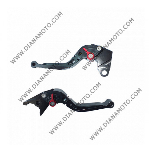 Ръкохватки спортни къси к-т регулируеми чупещи Kawasaki ZX6R 00-04 ZX9R 00-03 к. 9034