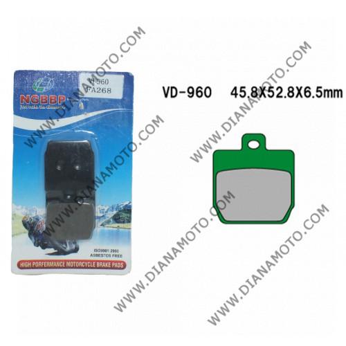 Накладки VD 960 EBC FA268 FERODO FDB2062 LUCAS MCB701 Органични к. 3-958