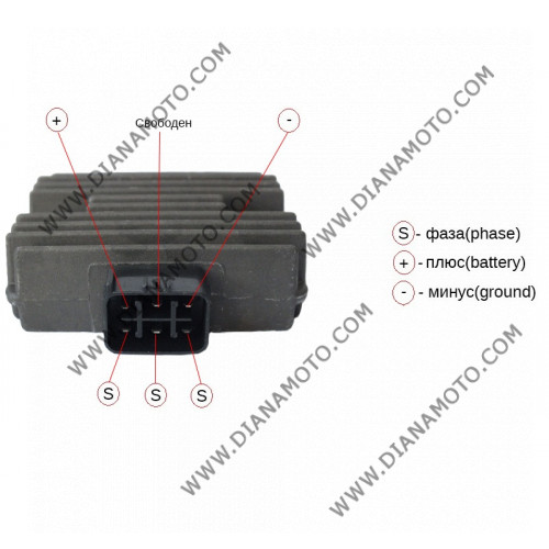 Реле зареждане Honda TRX 400 450 500 6 пина к. 8716