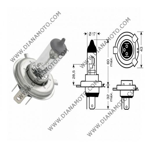 Крушка за фар 12V/60/55W H4 к. 575