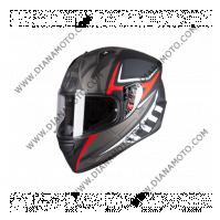 Каска MT Stinger ACERO черно-червен-сив мат XL к. 11588