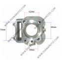 Цилиндър к-т с гарнитури Suzuki Vecstar 150 AC ф 57.00 мм болт 14 мм к. 16-54