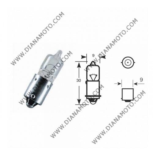 Крушка за мигачи 12V/21W H21 BA9S бяла 180 градуса к. 3659