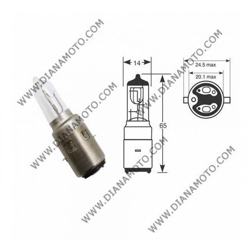 Крушка за фар 12V/35/35W BA20D халоген к. 4613