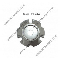 Вътрешна част вариатор Aprilia Derbi Gilera Piaggio 125-250 ф17мм равна код RMS 100300150 к. 9506