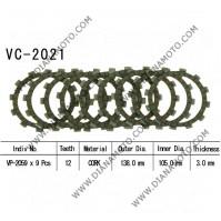 Съединител NHC 138x105x3 -9 бр 12 зъба CD2355 R Friction paper к. 14-210