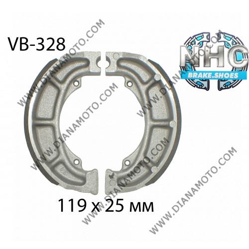 Накладки VB 328 ф 119х25мм EBC 991 624 FERODO FSB777 NHC MBS3321 к. 14-67