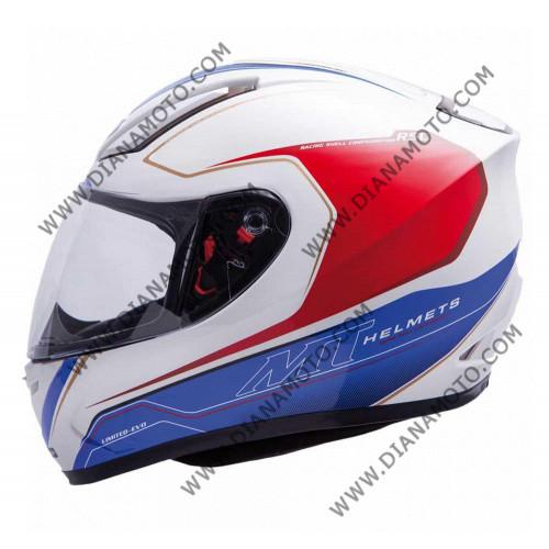 Каска MT Revenge EVO синьо-бяло-червена XS к. 9114