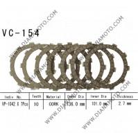Съединител NHC  136x101x2.8 -7бр  CD1154 R Friction paper к. 14-352