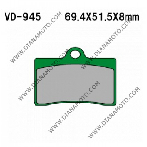 Накладки VD 945 EBC FA95 FERODO FPR419 NHC O7029A CU-1 FA95 Ognibene 43024700 Органични к. 41-92
