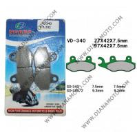 Накладки VD 340 EBC FA202 FA135 FERODO FDB497 LUCAS MCB689 NHC S3031 CU-1 Органични к. 3-948