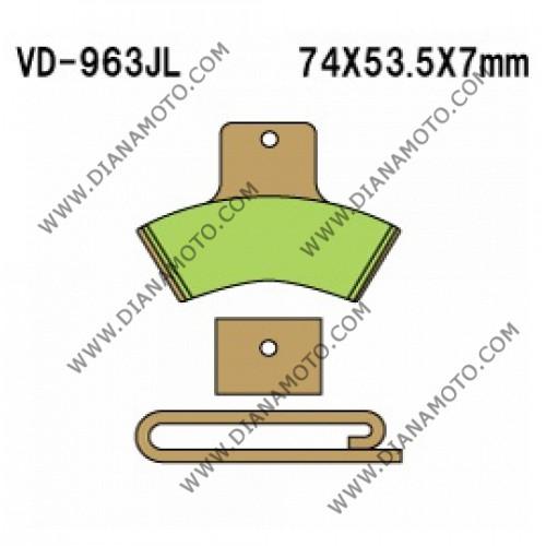 Накладки VD 963 EBC FA270 FERODO FDB2121 LUCAS MCB668 MCB762 NHC O7047 CU-1 СИНТЕРОВАНИ к. 14-337