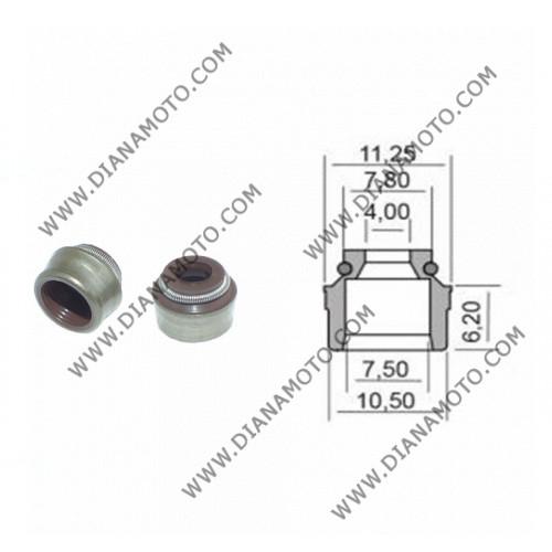 Гумички за клапан Aprilia Gilera Derbi Piaggio 50-500 4x7.5-10.5x6.2 равни на код RMS 100669210 к. 9585