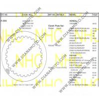 Метални дискове за съединител NHC P004 Honda Yamaha Gas Gas 138.8x104.4x1.5 28 зъба к. 14-255