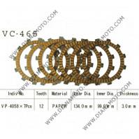Съединител NHC 134x99x3.0 - 7 бр. 12 зъба CD4469 R Friction paper к. 14-375