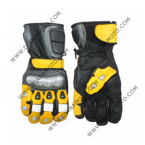 Ръкавици MBG 025 Кожа жълто-черни S k. 4193