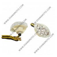 Мигачи к-т универсални LED за спойлер бяло стъкло к. 10195