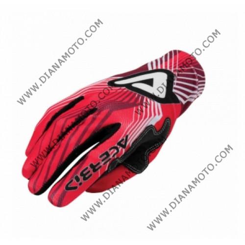 Ръкавици синтетика MX3 Acerbis червени S k. 4238