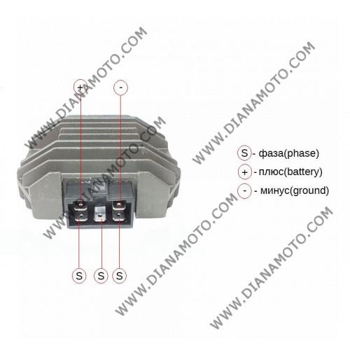 Реле зареждане Yamaha R6 R1 T-MAX 500 55A 5 пина равно на код RMS 246030232 к. 6131