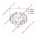 Статор SUZUKI DERBI ITALJET MALAGUTI 50 бобини 1+3 ф 84 мм 3 кабела к. 6511