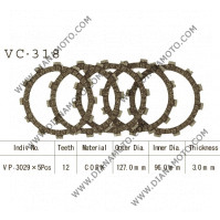 Съединител NHC 127x96x3 -5 бр 12 зъба CD3318 R Friction paper к. 14-410