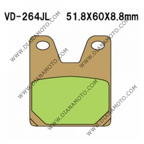 Накладки VD 264 EBC FA267 FERODO FDB2084 LUCAS MCB702 СИНТЕРОВАНИ к. 5285