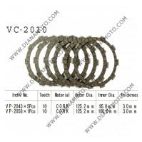 Съединител  NHC 125x95x3 -5 бр 125x100x3 -1 бр 10 зъба CD2331 R Friction Paper к. 14-202