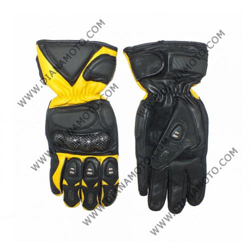 Ръкавици MBG-04 Кожа жълто-черни мъжки S к. 4186
