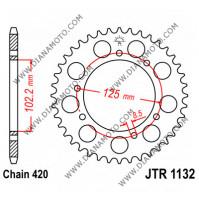 Зъбчатка задна JTR 1132 - 53 к. 7248