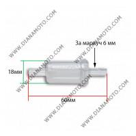 Бензинов филтър Malossi ф 6 мм  k. 4-233