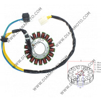 Статор Aprilia Benelli Malaguti Yamaha Majesty 250 бобини 18 ф 93 мм 5 кабела к. 9302
