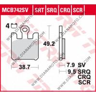 Накладки VD 354 MCB742SRQ TRW Синтеред  к. 10376