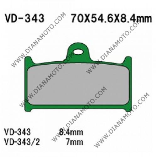 Накладки VD 343  EBC FA236 FA145 FERODO FDB557 LUCAS MCB595 Органични к. 2219