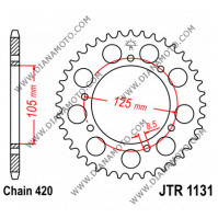 Зъбчатка задна JTR 1131 - 48 к. 5883