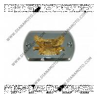 Декоративна капачка за казанче спирачна течност Yamaha XVS650-1100 Dragstar Chrome-Gold хром-златист к. 3372