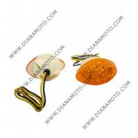 Мигачи к-т универсални LED за спойлер оранжево стъкло к. 10196