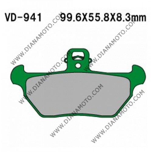 Накладки VD 941 EBC FA170 FERODO FDB605 LUCAS MCB621 Органични к. 5324