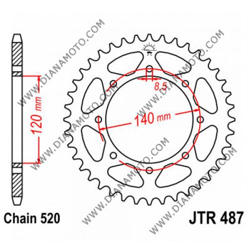 Зъбчатка задна JTR 487 - 43 к. 7197