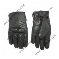 Ръкавици кожени YORK H2OUT черни М к. 8538