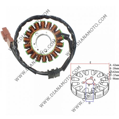 Статор Piaggio Beverly X8 X9 400-500 бобини 18 ф 96 мм 3 кабела равен на код RMS 246350112 k. 9517